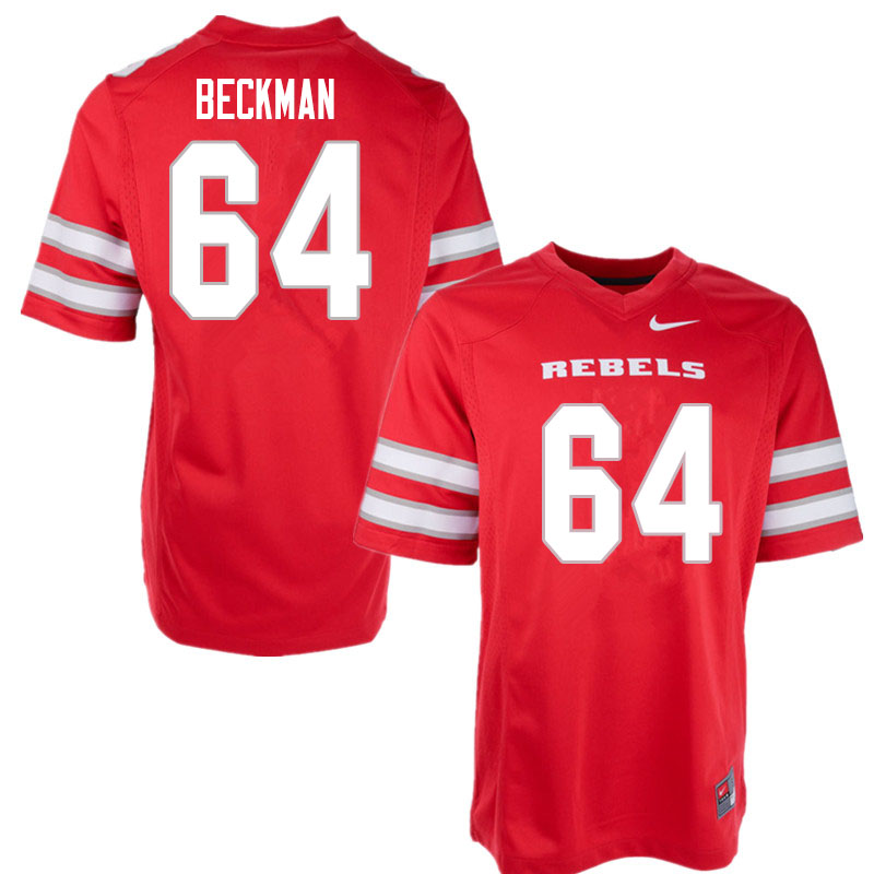 Men #64 Garrett Beckman UNLV Rebels College Football Jerseys Sale-Red