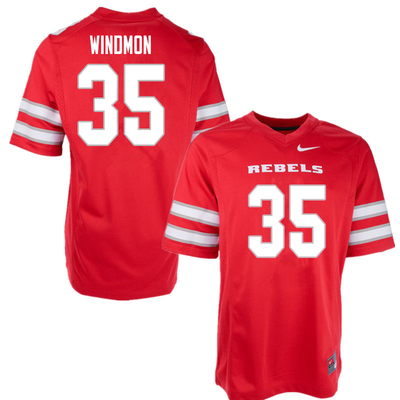 Men #35 Jacoby Windmon UNLV Rebels College Football Jerseys Sale-Red