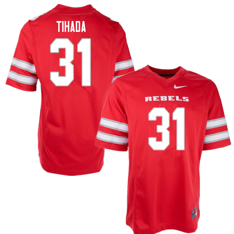 Men #31 Josh Tihada UNLV Rebels College Football Jerseys Sale-Red