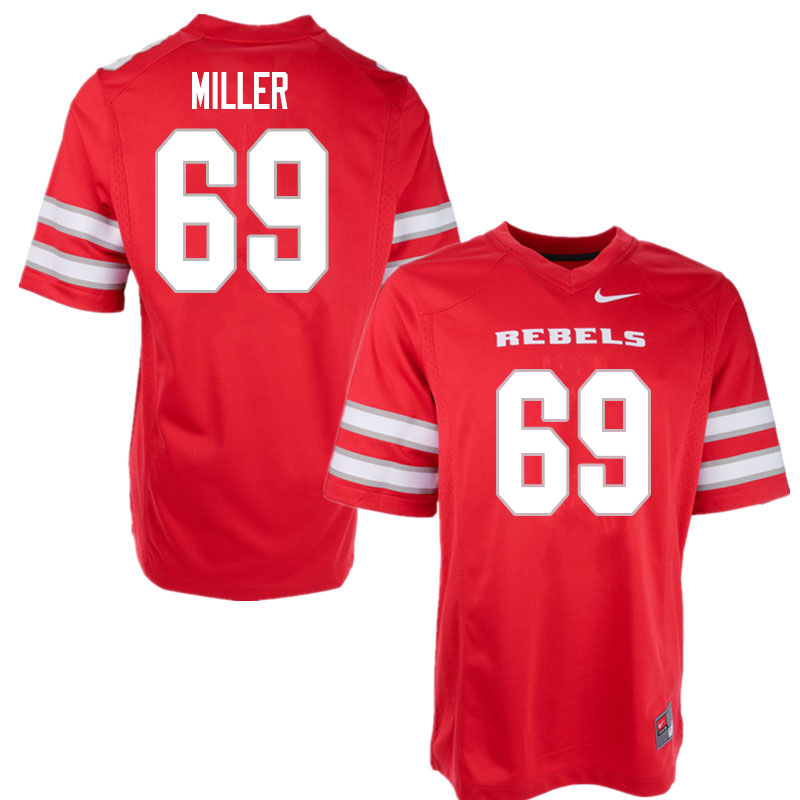 Men #69 Marcus Miller UNLV Rebels College Football Jerseys Sale-Red