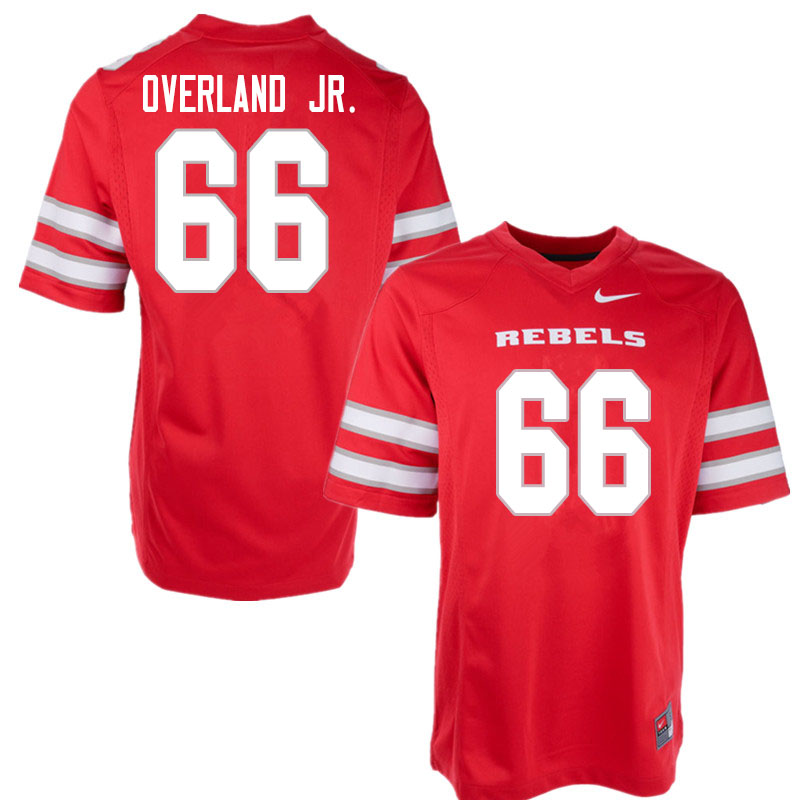 Men #66 Mike Overland Jr. UNLV Rebels College Football Jerseys Sale-Red