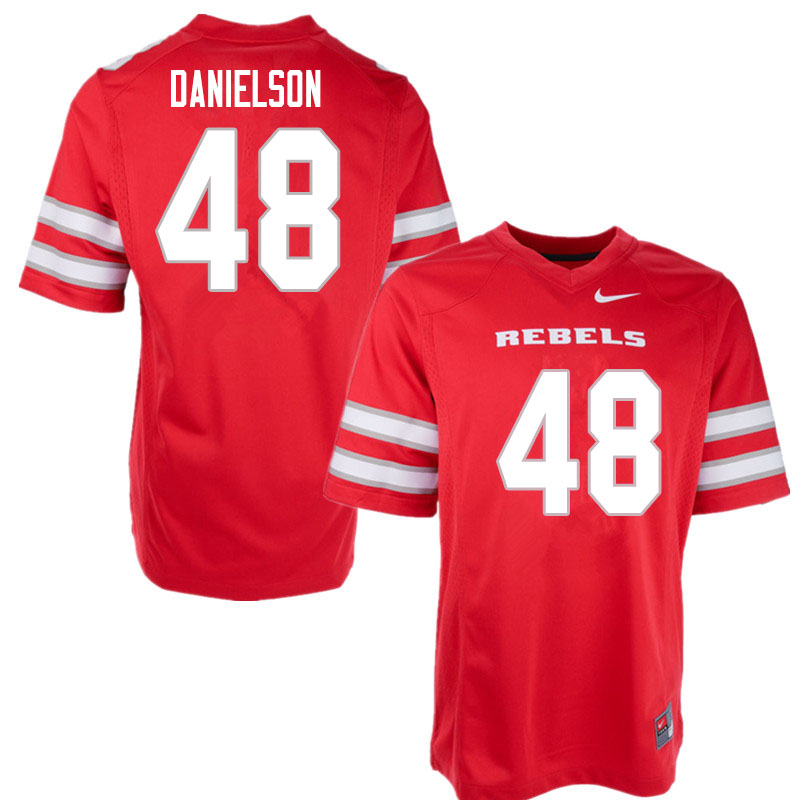 Men #48 Royce Danielson UNLV Rebels College Football Jerseys Sale-Red