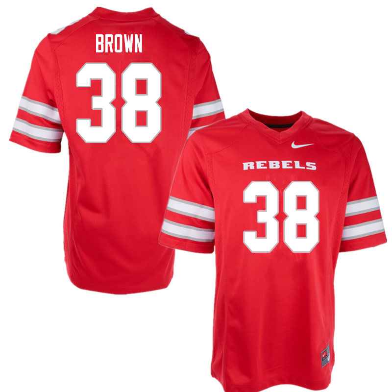 Men #38 Tanner Brown UNLV Rebels College Football Jerseys Sale-Red