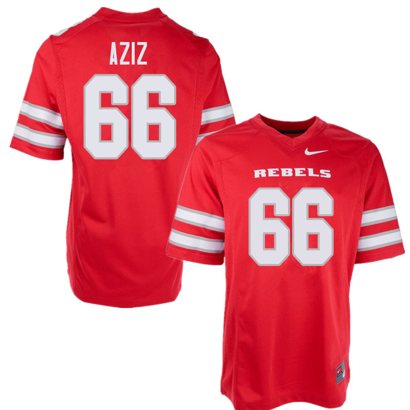 Men's UNLV Rebels #66 Ammir Aziz College Football Jerseys Sale-Red