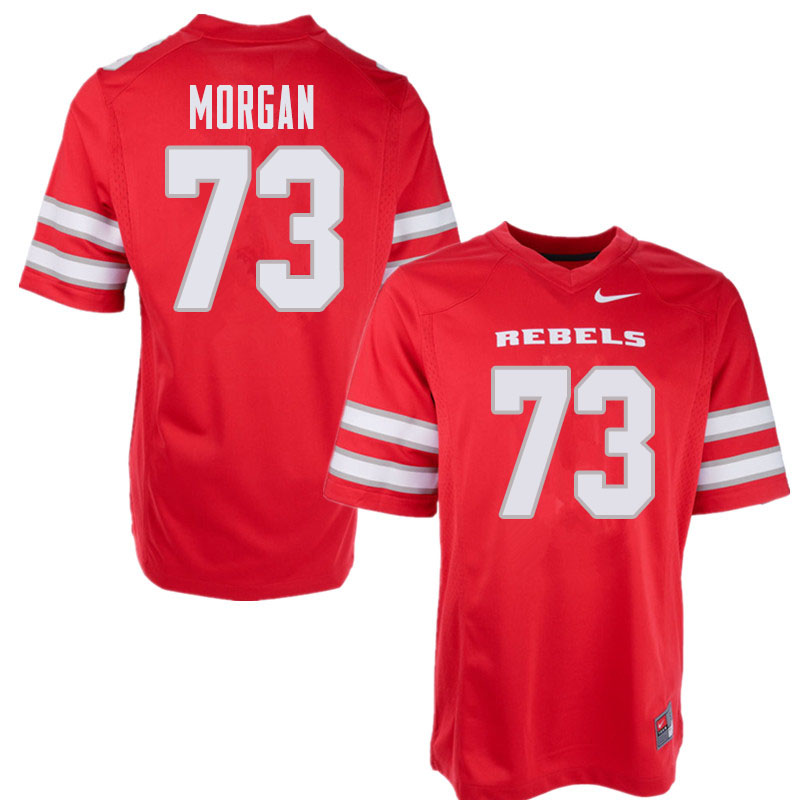 Men's UNLV Rebels #73 Ashton Morgan College Football Jerseys Sale-Red