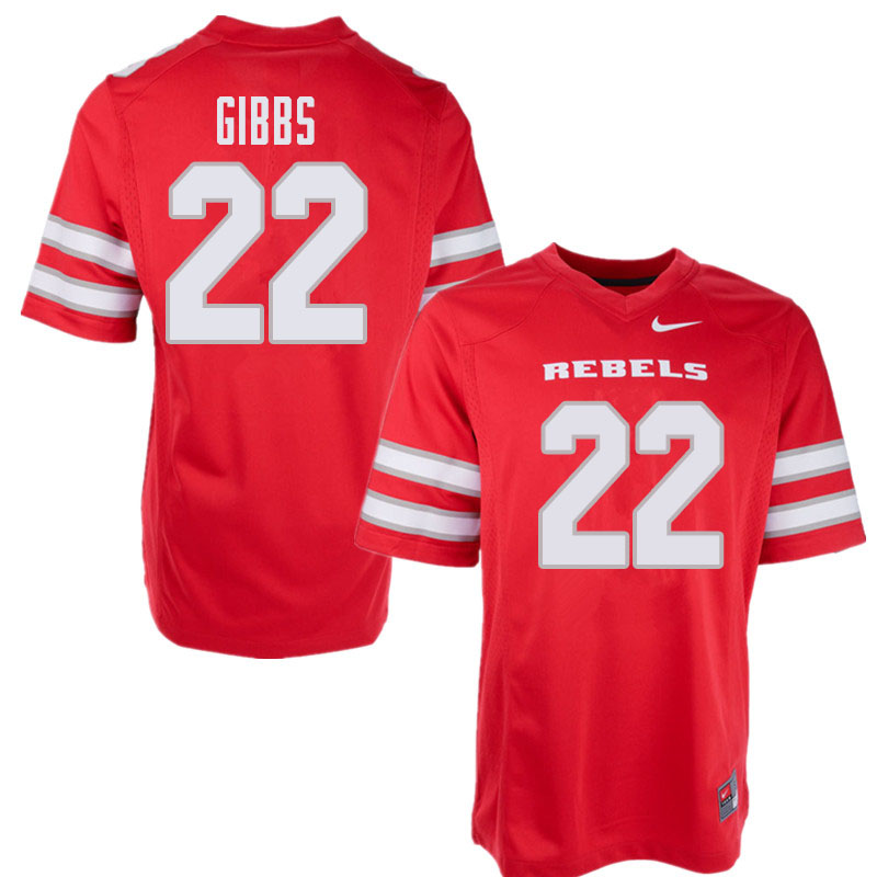 Men's UNLV Rebels #22 Demitrious Gibbs College Football Jerseys Sale-Red