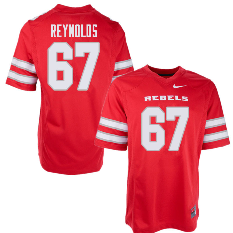 Men's UNLV Rebels #67 Jackson Reynolds College Football Jerseys Sale-Red