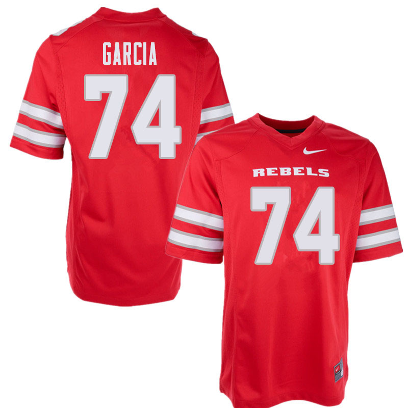 Men's UNLV Rebels #74 Julio Garcia College Football Jerseys Sale-Red