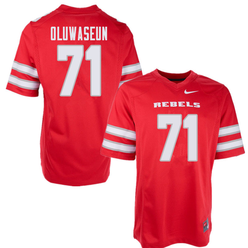 Men's UNLV Rebels #71 Justice Oluwaseun College Football Jerseys Sale-Red