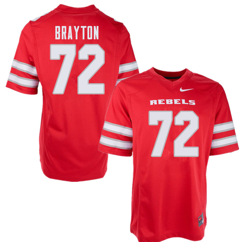 Men's UNLV Rebels #72 Matt Brayton College Football Jerseys Sale-Red