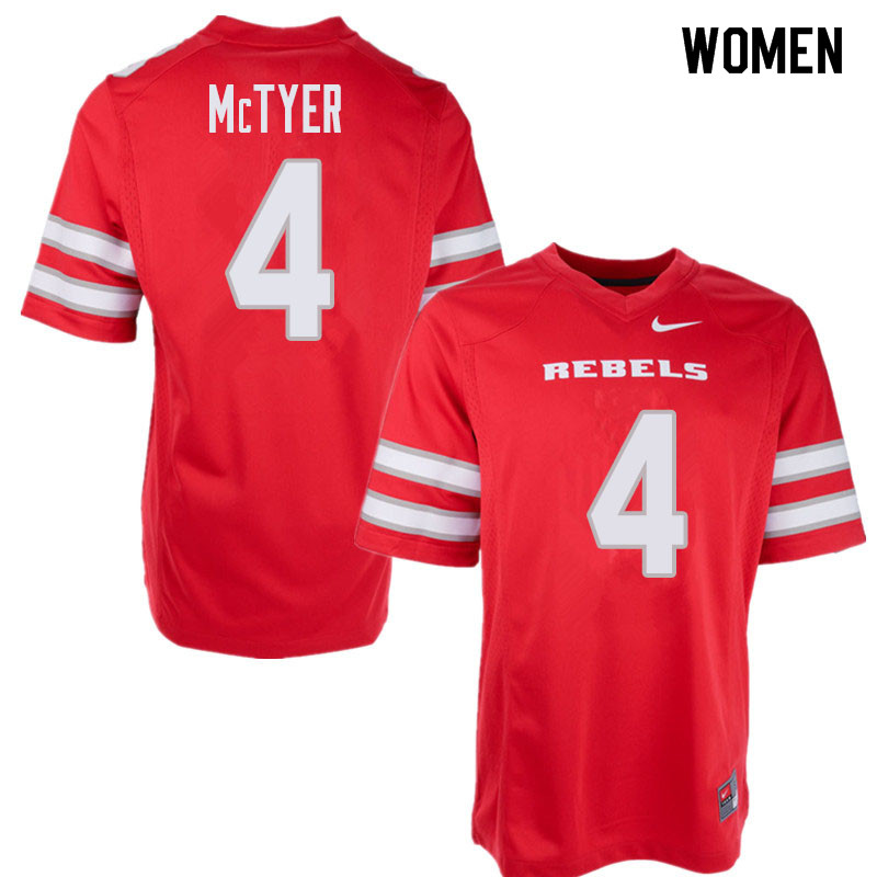 Women's UNLV Rebels #4 Torry McTyer College Football Jerseys Sale-Red
