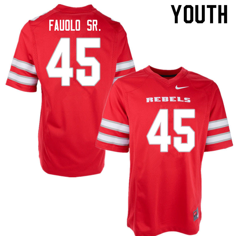 Youth #45 Giovanni Fauolo Sr. UNLV Rebels College Football Jerseys Sale-Red