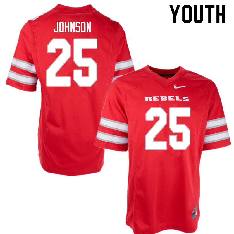 Youth #25 Ricky Johnson UNLV Rebels College Football Jerseys Sale-Red
