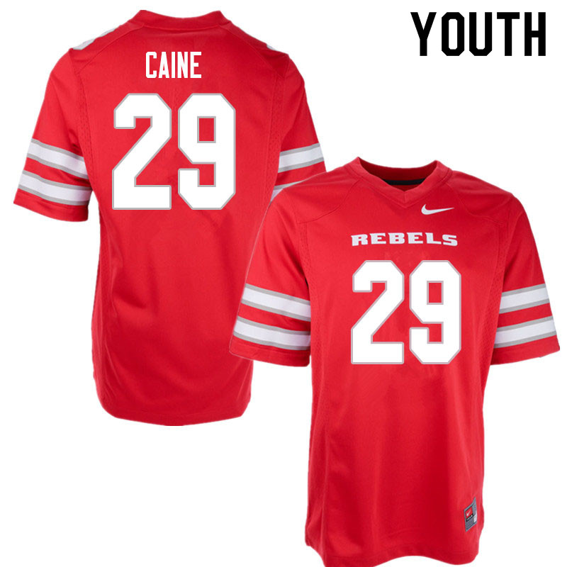 Youth #29 Tre Caine UNLV Rebels College Football Jerseys Sale-Red